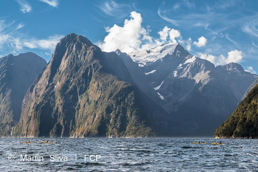 Kayak Milford Sound, Fiordland - from Te Anau