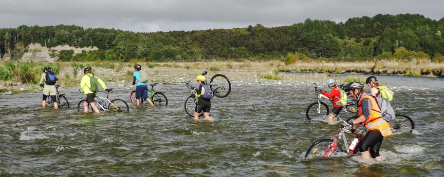 Riding bicycle - Te Anau Cycling Club, Fiordland