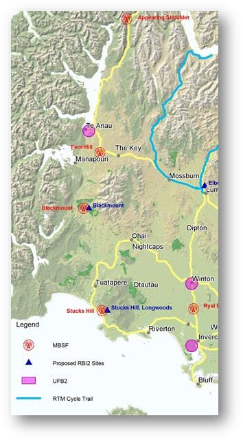 fiordland broadband map